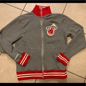 NBA. Miami Heat Mitchell & Ness Classic Zip Jacket